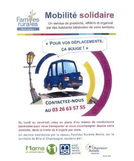 Service de proximité : Mobilité Solidaire